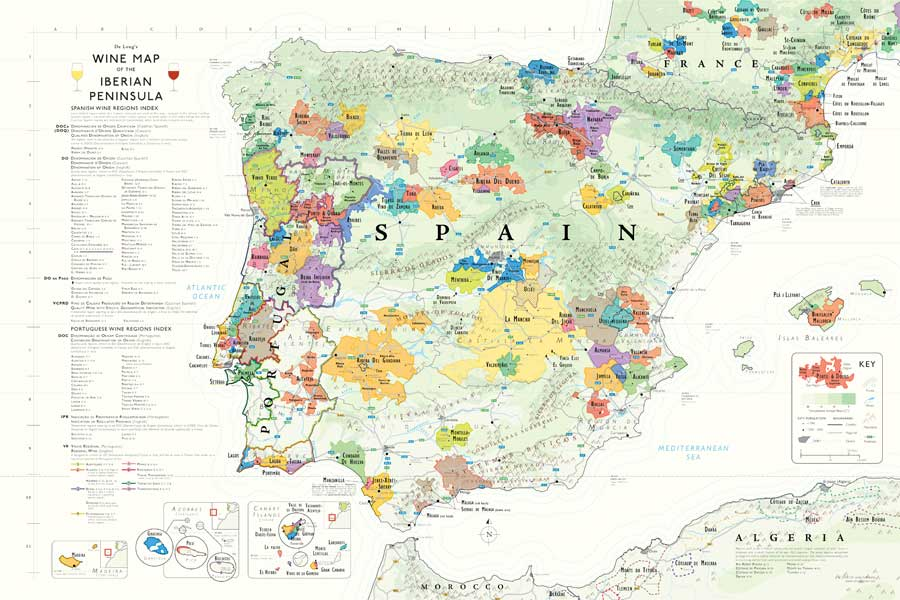 DeLongs Iberian Wine Map  Catavino Food  Wine Tours