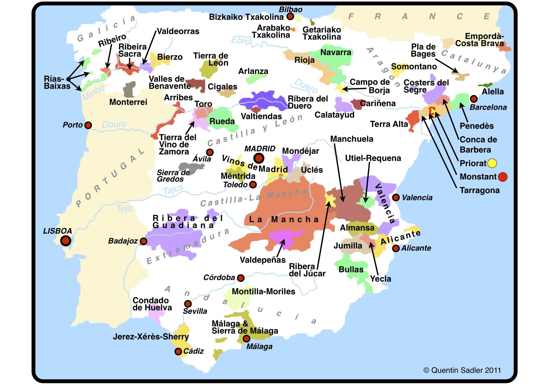 Calatayud Spain Map.Sierra De Gredos A Treasure Trove For Old Vine Garnacha