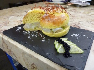Codfish sliders at SeaMe
