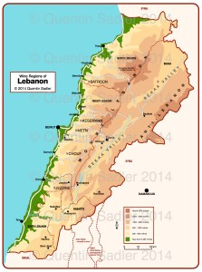 Lebanon map watermark