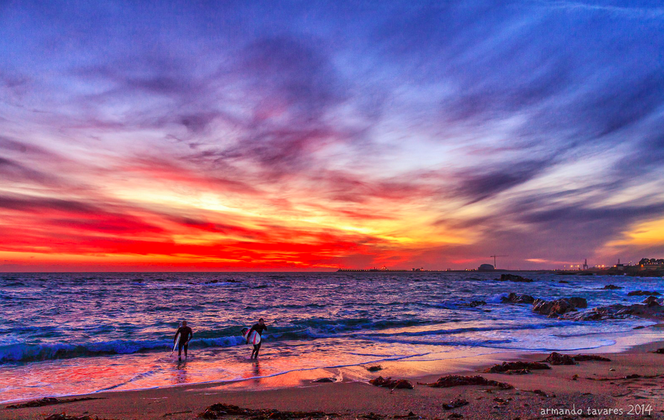 Surfing in Porto