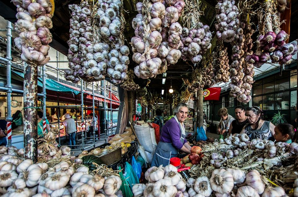 Bolhão market place, Porto, Portugal