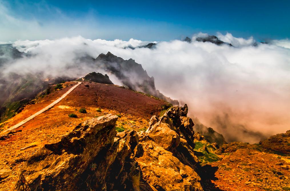 Sommet de la montagne de Madère, Portugal